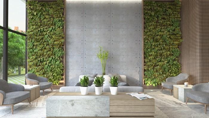 Mang cả thiên nhiên tươi mát vào trong nhà khiến không khí thêm thông thoáng