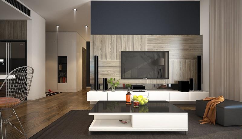 Thiết kế phòng khách chung cư 150m2 hiện đại tại tràng an complex