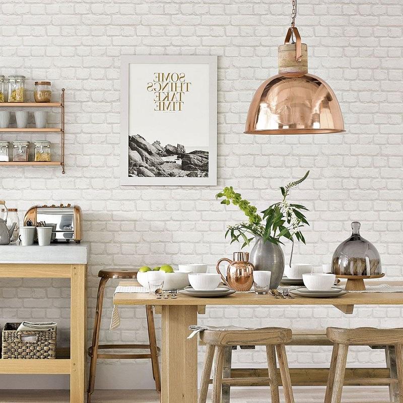 giấy dán tường phòng bếp