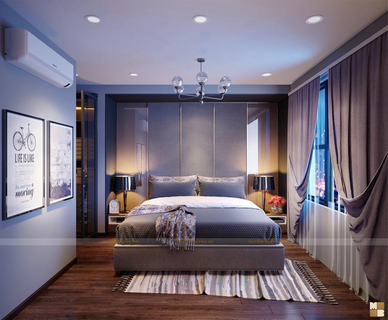 Thiết kế căn hộ 100m2 3 phòng ngủ tại chung cư Goldmark City - Phòng ngủ master