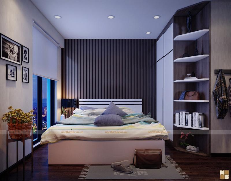 Thiết kế căn hộ 100m2 3 phòng ngủ tại chung cư Goldmark City - Phòng ngủ con trai nhỏ