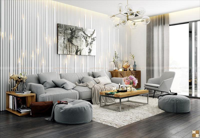 Mẫu thiết kế nội thất căn hộ  3 phòng ngủ  hiện đại và tinh tế