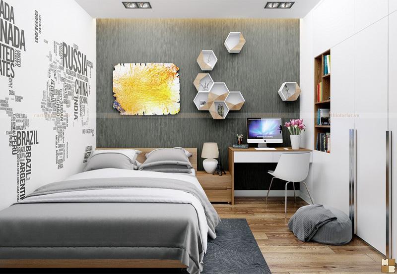 Thiết kế căn hộ 100m2 3 phòng ngủ tại Royal City - Phòng ngủ con trai