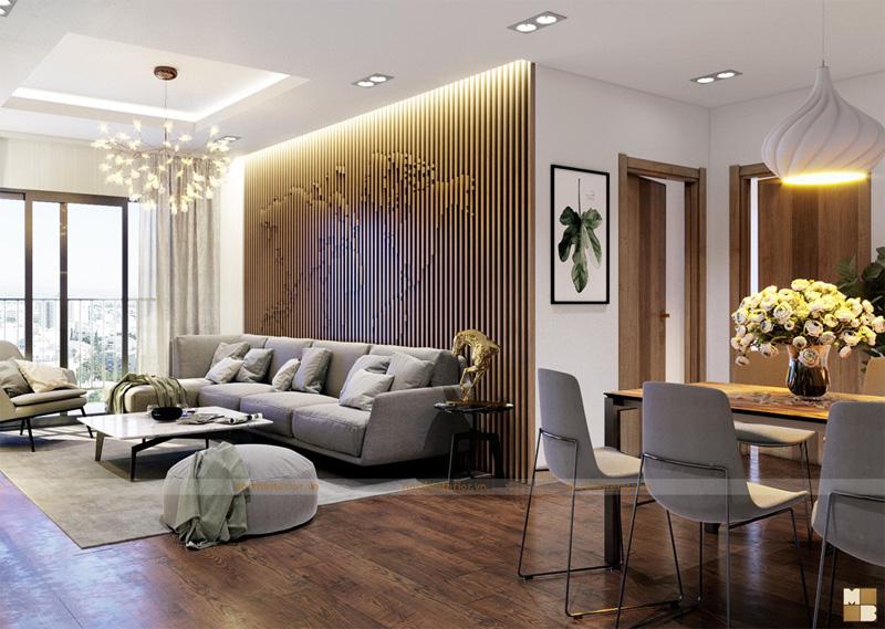 Mẫu thiết kế nội thất căn hộ chung cư  sang trọng đậm chất nghệ thuật