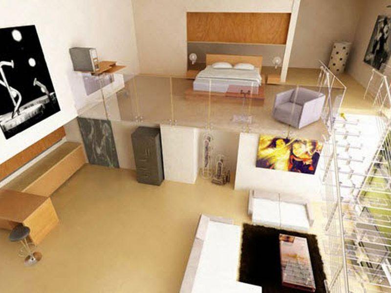thiết kế căn hộ chung cư có tầng lửng 10