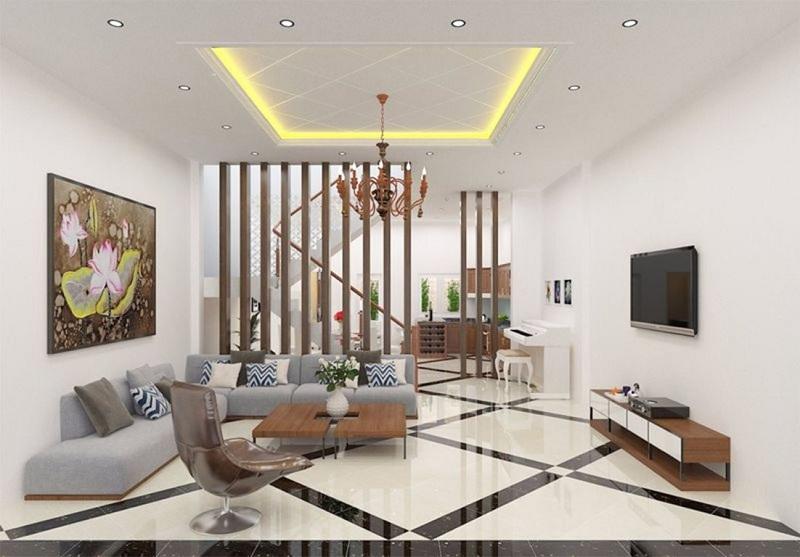 Tư vấn thiết kế nội thất phòng khách nhà ống hiện đại và tiện nghi